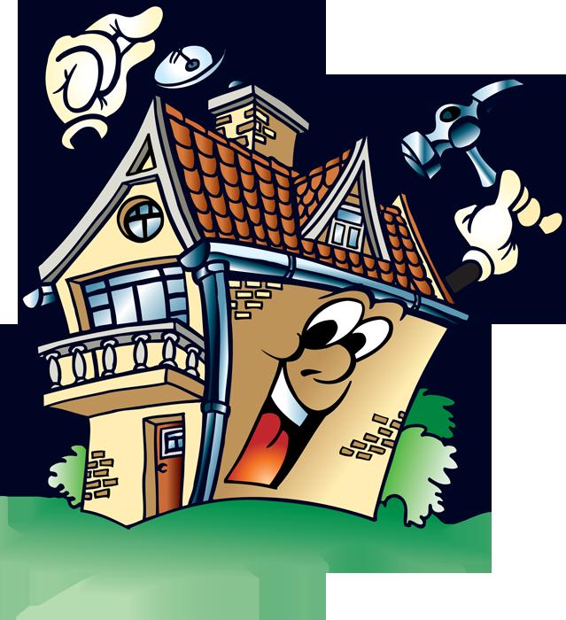 Рисунок смешных домов